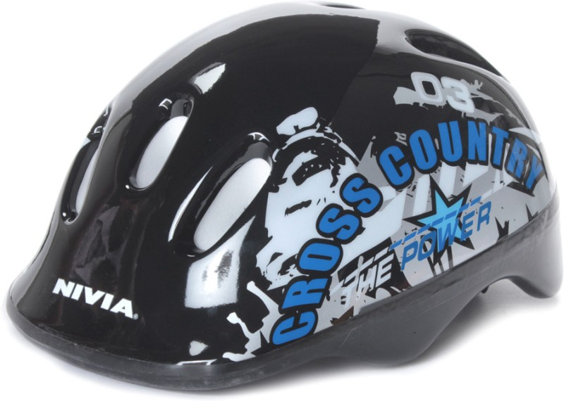 Nivia Cross Country Skating Helmet(Silver, Black)