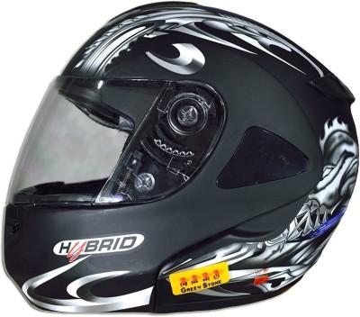 GREEN STONE Detachable Alien Bluetooth Motorbike Helmet(Black)