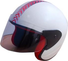 TECH YUG Run Open Face Motorbike Helmet - M
