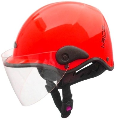Saviour I-Ride Glossy Unisex Sport Clear Visor Motorbike Helmet - M