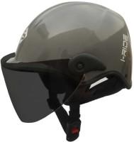Saviour I-Ride Glossy TV Unisex Motorbike Helmet(Grey)