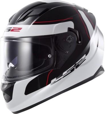 LS2 LS2 FF320 Lunar Black White with Dual Visor Motorbike Helmet - L, XL