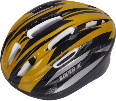 Super-K SH0602-S_Yellow Skating Helmet - S