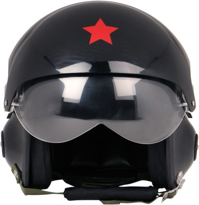 Anokhe Collections Exclusive Pilot Edition Motorbike Helmet - L(Black Glossy)