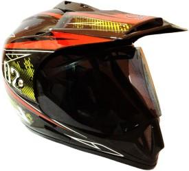 O2 Full Face Sports ISI Motorbike Helmet - M