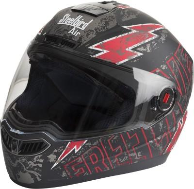 Steelbird SBA-1 Free Live Matt Black & Red Motorbike Helmet - L