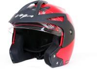 Vega Crux OF (Open Face) Motorbike Helmet - M(Red)