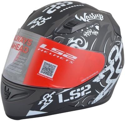 LS2 Olympic Motorbike Helmet - L, XL(Black, White)