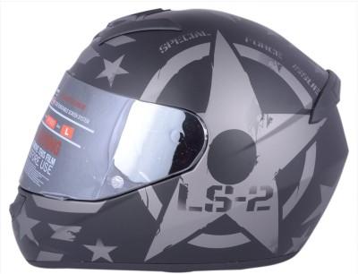 LS2 Combat Matt Black With Mercury Visor Motorbike Helmet - XL