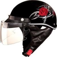 Studds Sporting Troy Motorsports Helmet(Red Rose)