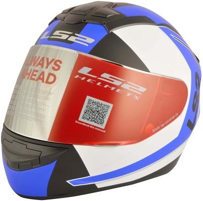 LS2 Sprint Motorbike Helmet - L(White, Blue)