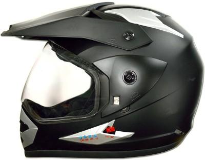 GREEN STONE Moto-X Plain Bluetooth Motorbike Helmet(Matte Black)