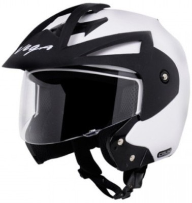 Vega Crux OF (Open Face) Motorbike Helmet - L(White)