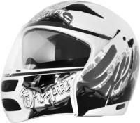 Vega Boolean Escape Motorsports Helmet - M(Silver, White)