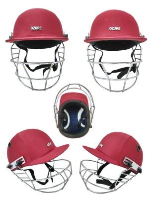 Ozure Armor Red / Chrome Cricket Helmet - L