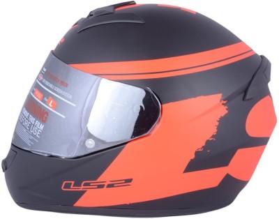 LS2 Bulky Black Red With Mercury Visor Motorbike Helmet - XL