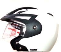 Vega Crux OF (Open Face) Motorbike Helmet - M(White)