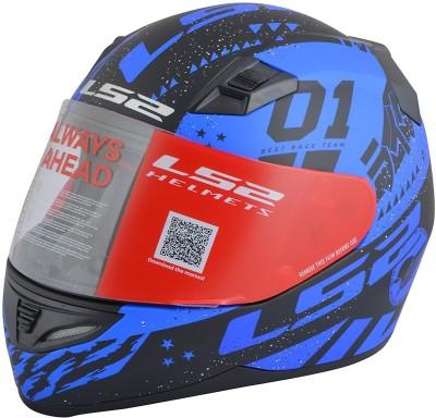 LS2 Tokyo Motorbike Helmet - L, XL(Black, Blue)
