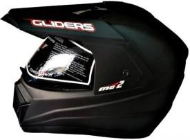 Gliders MC2 Plain Black Motorbike Helmet - L