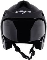 Vega Vega Crux Open Face Motorbike Helmet - M(Black)
