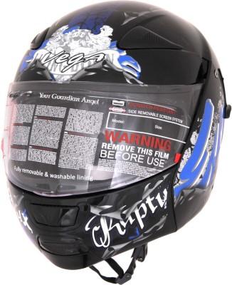 Vega Boolean Escape Motorsports Helmet - M(Black, Metallic Blue)