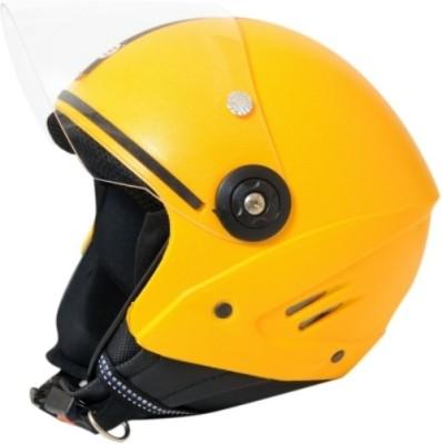 Stallion. Open Face ISI (Yellow) Motorbike Helmet - M