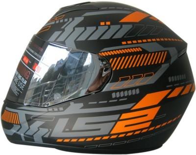 LS2 Ff352 Tron Motorbike Helmet - L(Black, Orange Matt)