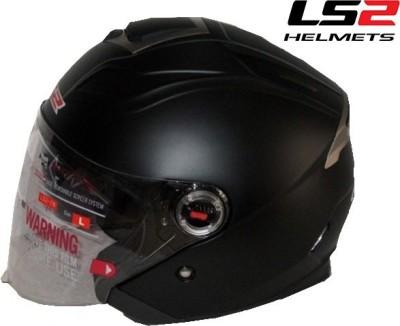 LS2 Open Face Motorsports Helmet(Matt Black)