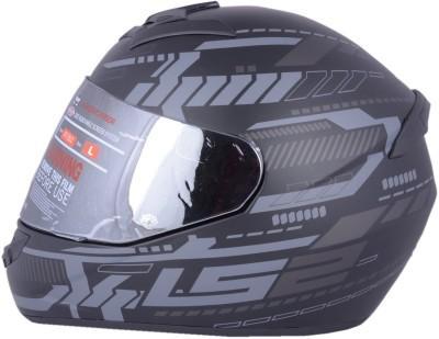 LS2 TRON BLACK SILVER WITH MERCURY VISOR Motorbike Helmet - XL