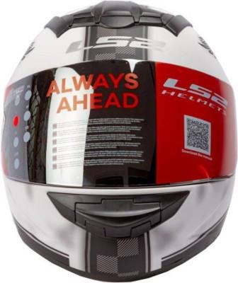 LS2 Fan White with Mercury Visor Motorbike Helmet - L(White)