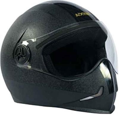 steelbird ADONIS BLACK Motorbike Helmet - L(Black)