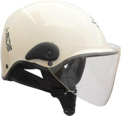 Saviour I-Ride Glossy Unisex Clear Visor Motorbike Helmet - M