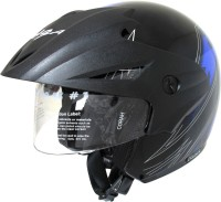 Vega Cruiser W/P Arrows Motorsports Helmet - M(Black, Metallic Blue)
