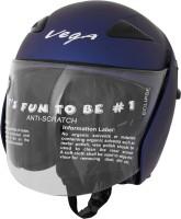 Vega Eclipse Motorsports Helmet - M(Dull Metallic Blue)