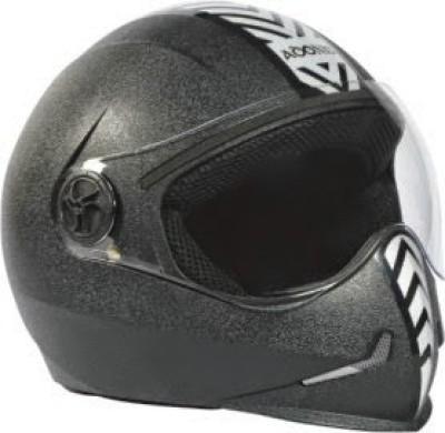 Steelbird Adonis Dashing Motorbike Helmet - L(Black, Silver)