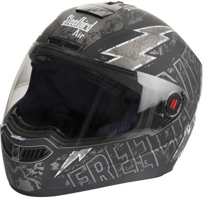 Steelbird SBA-Free Live Matte Black & Grey Motorbike Helmet - L