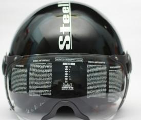 steelbird SB-27 STYLE Motorbike, Motorsports, Cycling Helmet - L(GLOSSY BLACK)