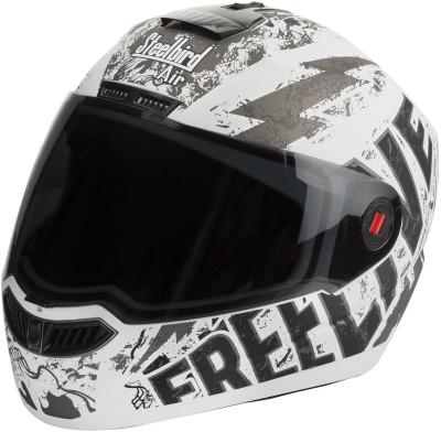 Steelbird SBA-1 Free Live Matt White & Grey Motorbike Helmet - L