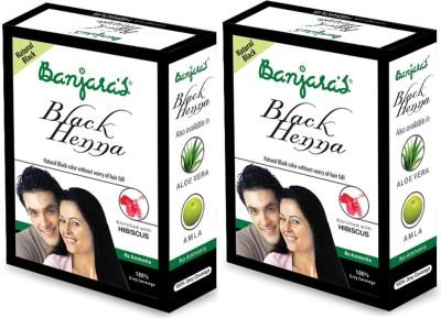 Banjaras Black Henna With Hibiscus 2 Packs