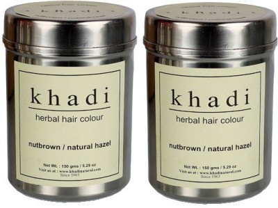 khadi Natural Herbal Hair Color Nut Brown (Twin Pack)