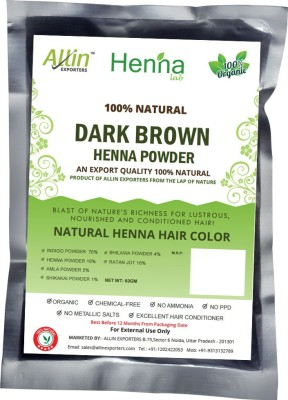 Allin Exporters Natural Dark Brown Henna Hair Color(60 g)