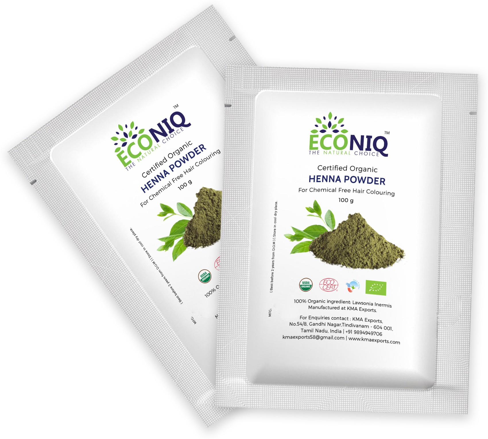 Econiq Henna leaf powder for hair(200 g)