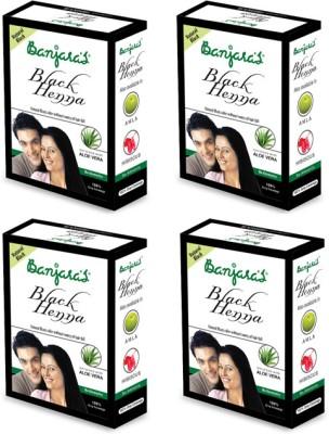 Banjaras Black Henna With Aloevera 50 G set of 4 pack