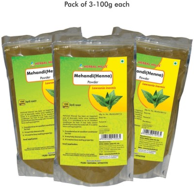 Herbal Hills Henna Powder, 100g (Pack of 3)