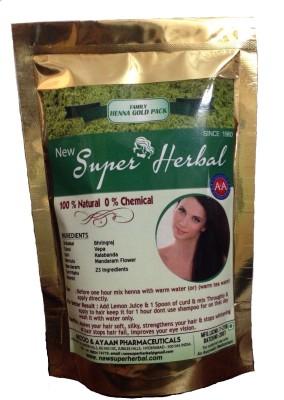 Newsuperherbal Family Henna Gold Pack