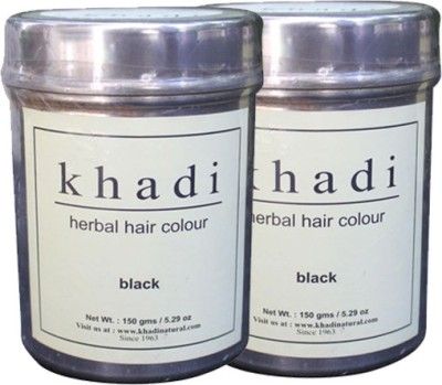 Khadi Herbal Herbal Hair Color Black (Twin Pack)(300 g)