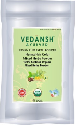 Vedansh Herbal Mix henna Hair color
