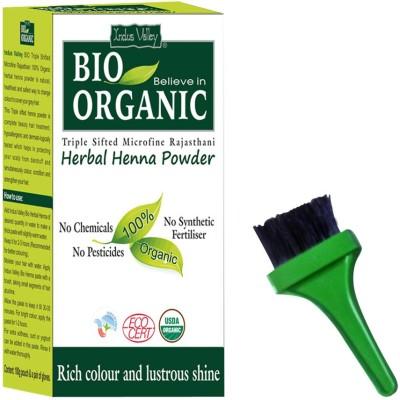 Indus valley Bio Organic Herbal Henna Powder with Brush Kit