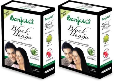Banjaras Black Henna With Aloevera 2 Packs