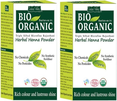 Indus Valley Pack of 2- Bio Organic Herbal Henna Powder(200 g)